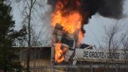 Trucker ontsnapt nipt uit vuurzee