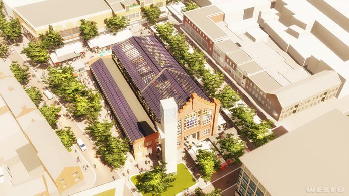 De plannen van West 8 voor het marktplein.