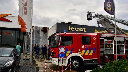 Brand door roofingwerken bij bouwgroothandel Lecot