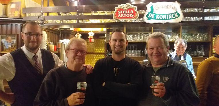 """Actiecomité """"Den Breughel is van ons"""". Van links naar rechts: Juan Leysen, Jan Van hee, Kevin Moens en Michiel Leemans"""