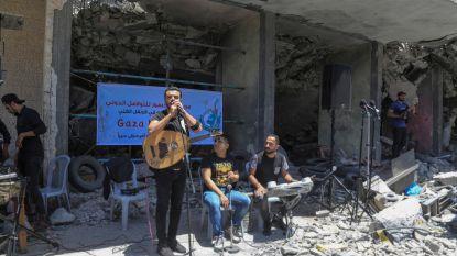 Concert in het puin van Gazastrook uit protest tegen Eurovisiesongfestival in Israël