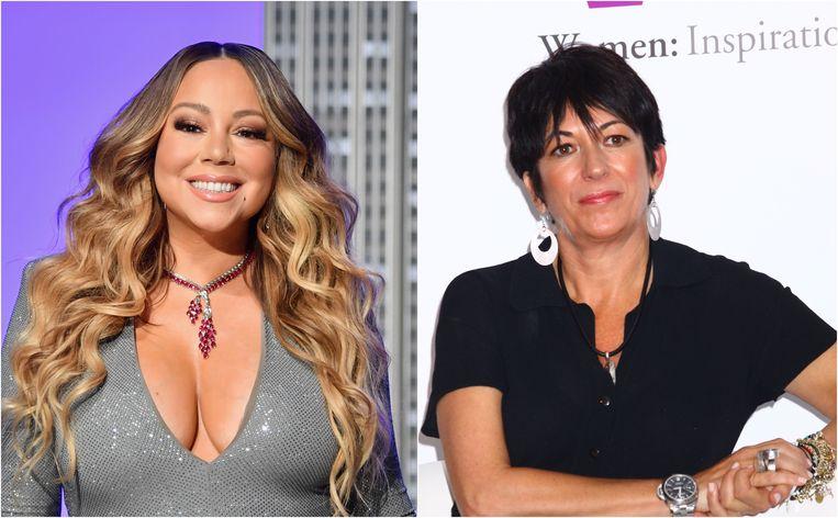 Mariah Carey gaat viraal met beelden waarin ze 'Ghislaine Maxwell' duwt