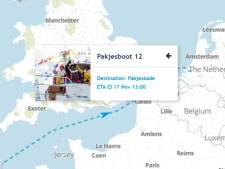 Volg de koers van Pakjesboot 12