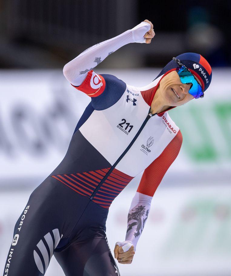 Martina Sablikova wint de 3 kilometer. Beeld BSR Agency