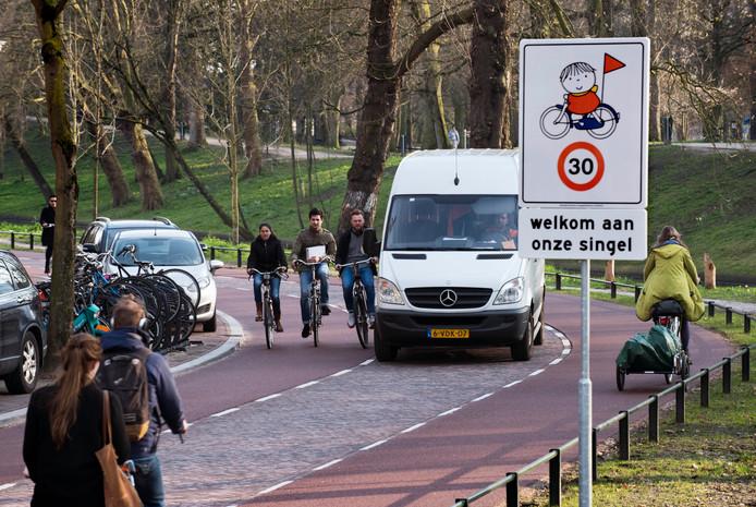 De Maliesingel en Tolsteegsingel zijn inmiddels al bijna anderhalf jaar fietsvriendelijk ingericht.