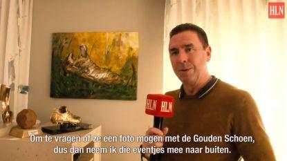 """VIDEO: Op bezoek bij de Gouden Schoen van... Lorenzo Staelens: """"Een overwinning op zij die hem mij niet gunden"""""""