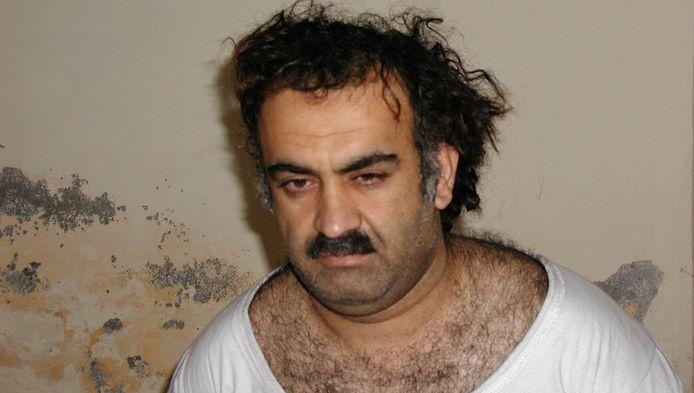 Khalid Sheikh Mohammed vlak na zijn arrestatie in 2003.