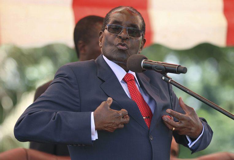 De president van Zimbabwe, Robert Mugabe. Beeld reuters