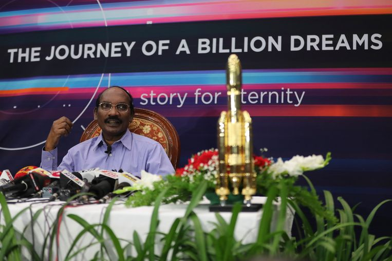 De voorzitter van de Indiase ruimteonderzoeksorganisatie ISRO, Kailasavadivoo Sivan.