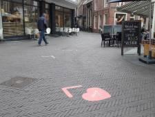 Zutphense winkelstraten hebben hartenstickers, maar minder dan gepland: 'We kiezen voor een mix van maatregelen'
