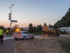 Auto laat meterslang oliespoor achter in Breukelen
