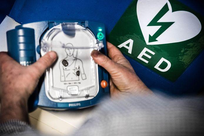 Foto van AED ter illustratie.