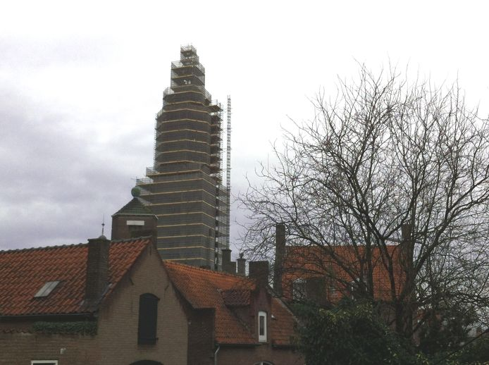De Cuneratoren in Rhenen in de steigers.
