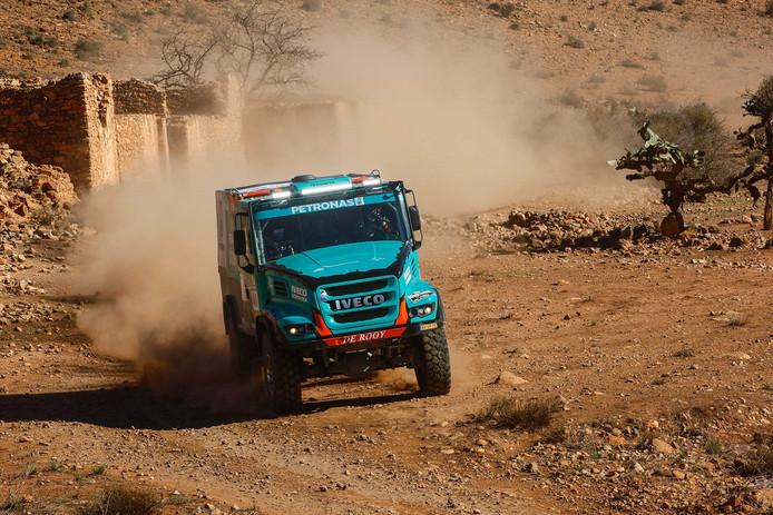 Gerard de Rooy was de snelste van de vrachtwagens in etappe 1 van de Africa Eco Race.