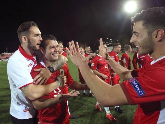 Door een 2-1 overwinning in de Nations League op Liechtenstein in oktober maakt Gibraltar nog altijd kans op het EK. Het zorgde voor euforische taferelen in het stadionnetje.