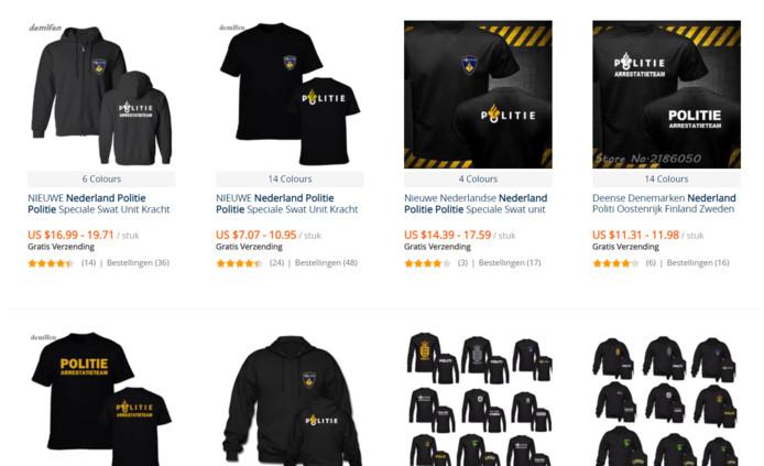 Kleding Websites.Nepkleding Van Politie Te Koop Bij Webwinkels Binnenland Bndestem Nl