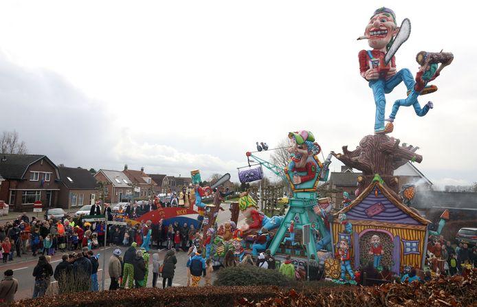 De stoet in Kloosterzande, afgelopen carnaval.
