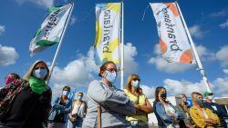 """Tientallen Brantano-werknemers betogen: """"Oprichters laten ons achter in werkloosheid, op kosten van de samenleving"""""""