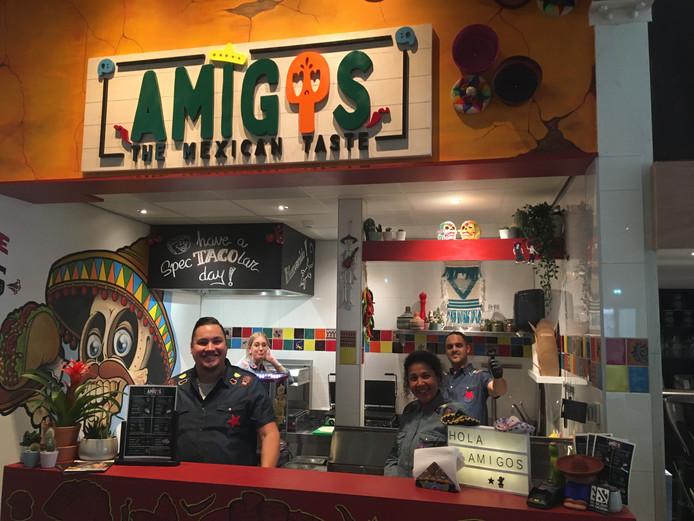 De stand van Amigo, the Mexican taste.
