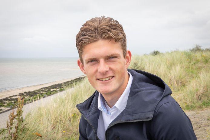 Olivier Aertssen in Kamperland, aan het Veerse Meer, waar hij deze weken vakantie viert.