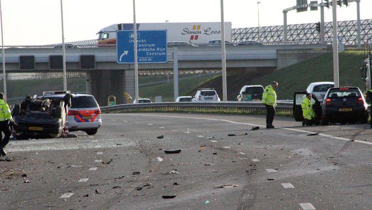 Ravage na het fatale ongeluk in Maarssen op 30 december 2015. Beeld anp