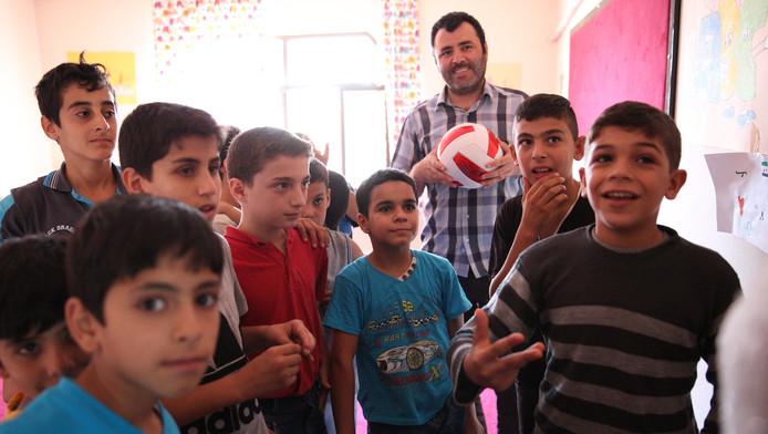 Syrische kinderen in de provincie Hatay aan de Turks Syrische grens.