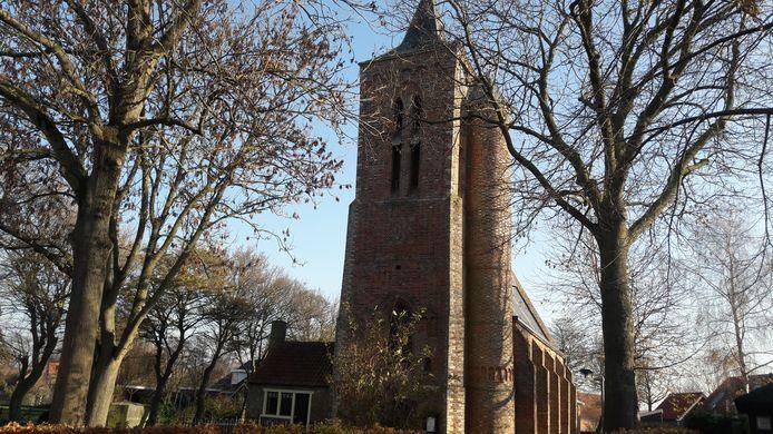 Het kerkje van de Protestantse Gemeente Ritthem.