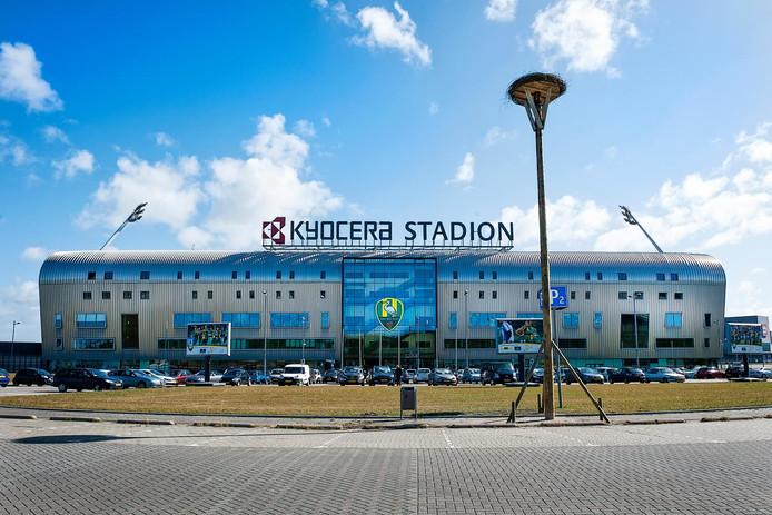 Het Kyocera Stadion van ADO Den Haag.