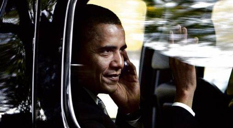 Obama zwaait (AP) Beeld