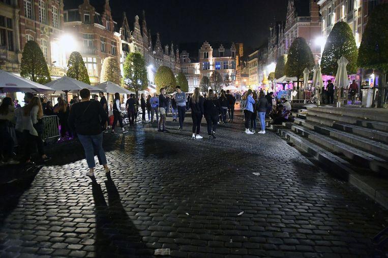 Illustratie Oude Markt Leuven