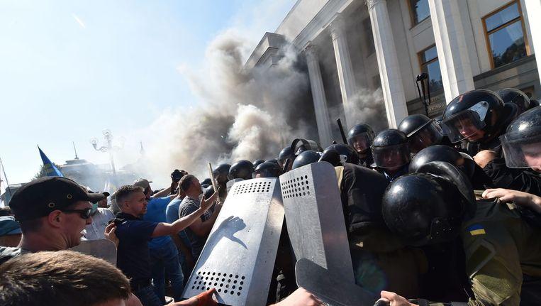 Gewelddadige betogingen in Kiev Beeld anp