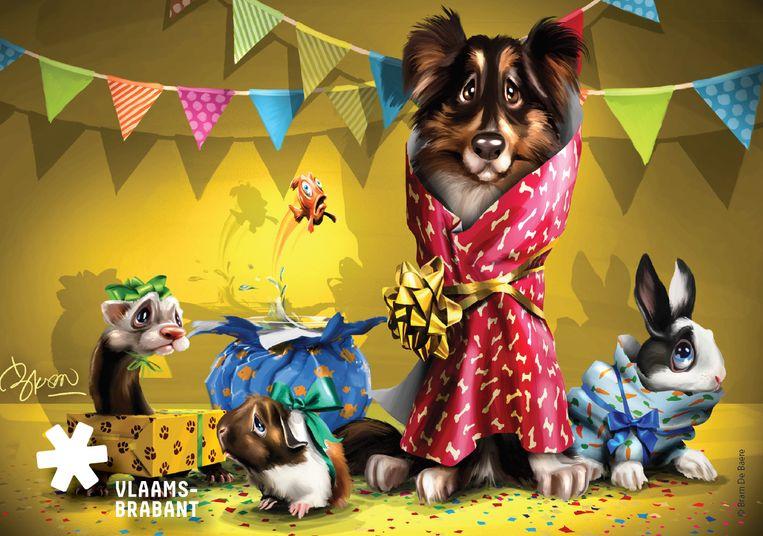 De provincie Vlaams-Brabant lanceerde een campagne om mensen bewust te maken van hun verantwoordelijkheden als ze een dier cadeau geven of krijgen.