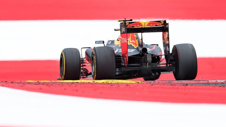 Verstappen op het circuit in Oostenrijk. Beeld epa