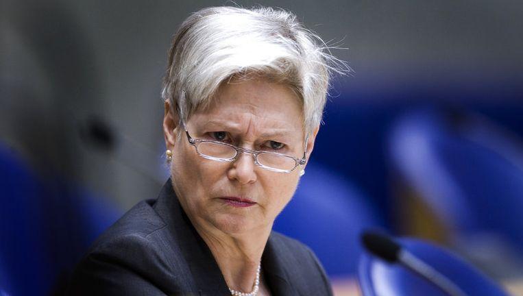 Demissionair minister Maria van der Hoeven reageerde maandag op een voorstel van de Consumentenbond om zo'n register in het leven te roepen, in navolging van het 'Bel-me-nietregister'. Foto ANP Beeld