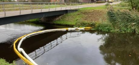 Olie op Bornsebeek bij Borne: oppassen met honden uitlaten