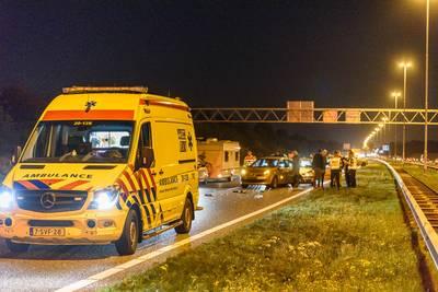 Twee ongevallen vlak na elkaar op bijna dezelfde plek op de A58 bij Ulvenhout