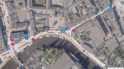 Tijdelijke rijrichting Kalkhofstraat/Leiedam verlengd tot wanneer fiets- en voetgangersbrug af is