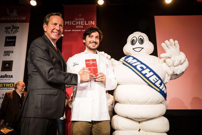 Archiefbeeld: De Gentse tv-kok Marcelo Ballardin haalde in 2017 zijn eerste ster met restaurant OAK. Voegt hij hier maandag een tweede aan toe?