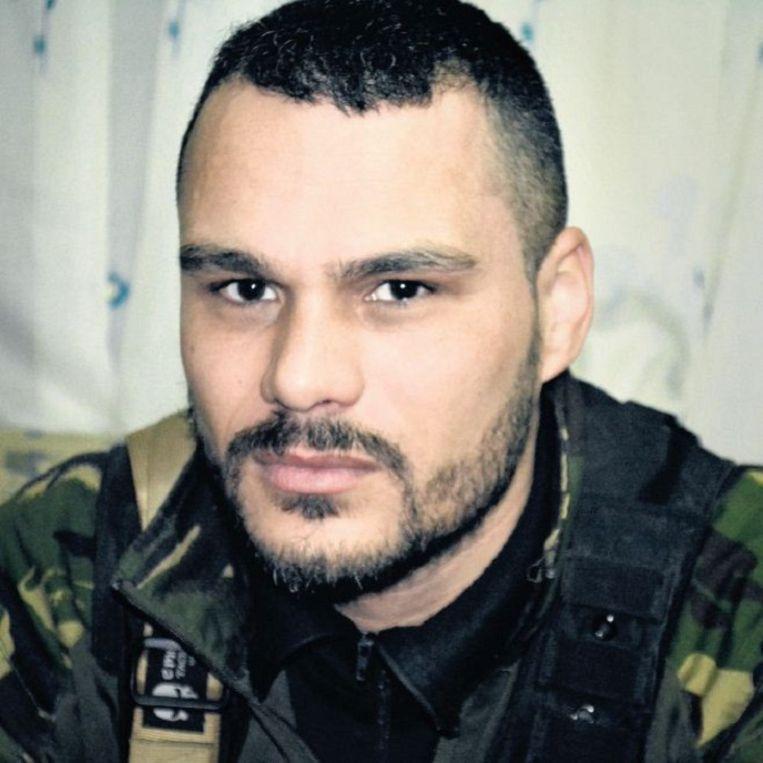 Jansen (40) heeft een achtergrond in het leger, het vreemdelingenlegioen en de beveiliging. Beeld Roel Geeraedts