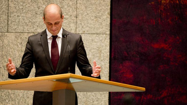 PvdA-leider Samsom in de Tweede Kamer. Beeld ANP