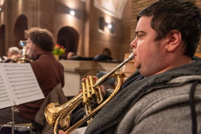 Bert Gooris bespeelt de bugel