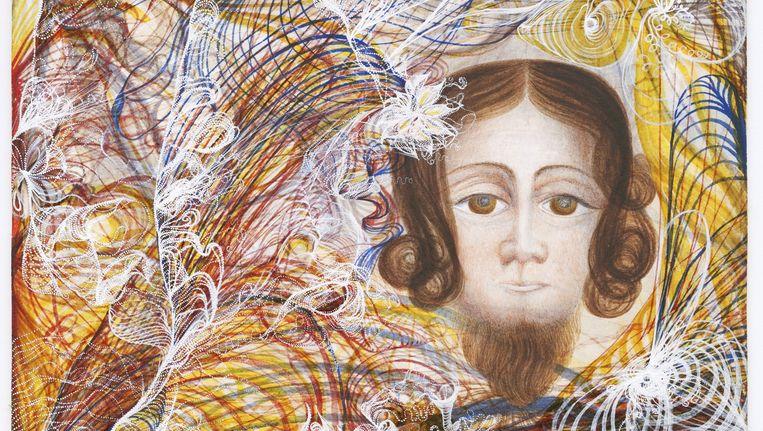 Georgiana Houghton: The Portrait of the Lord Jesus Christ (1862) Beeld Collectie Victorian Spiritualists Union