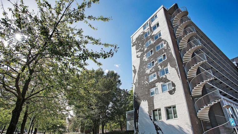 Flatgebouw in Amsterdam met appartementen die anderhalf jaar geleden werden getransformeerd van sociale huur naar vrije sectorhuur. Beeld null