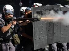 Traangas en rubberkogels bij protesten tegen Braziliaanse president