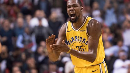 VIDEO. Toronto verslaat in NBA-topper Golden State na verlenging, Durant krijgt met liefst 51 punten handen op elkaar