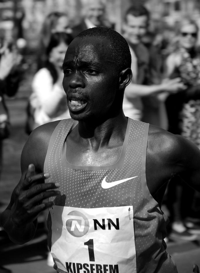 De winnaar van de marathon 2019, Marius Kipserem