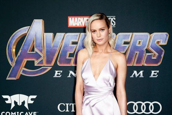 Brie Larson, die nieuwkomer Captain Marvel speelt.