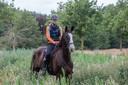 Esther Leenen traint met paard voor de Mongol Derby in Someren