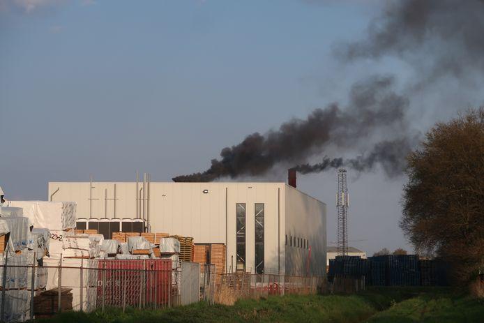 Brand in fabriek Dongen