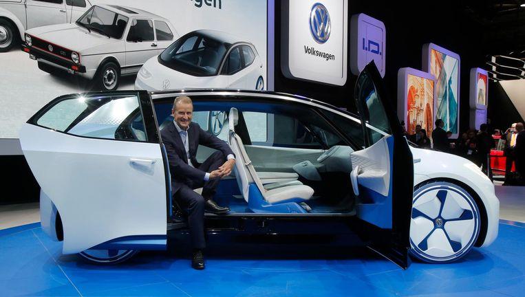 Bestuursvoorzitter van Volkswagen Herbert Diess. Beeld AP